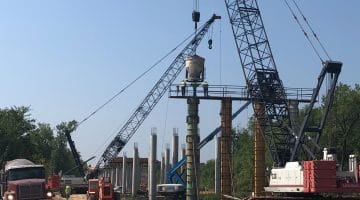 Pouring Columns for the New FM 897 Bridge