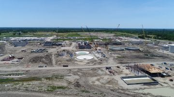 Work on the Leonard Water Treatment Plant May 2020