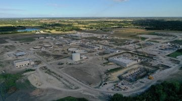 Overview photo of the Leonard Water Treatment August 2020