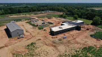 Work on the Water Treatment Plant Operations Center as of August 2020