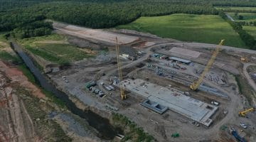 Overview of work completed on the lake dam and pump station September 2020