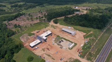 Operations center aerial image of work this October 2020
