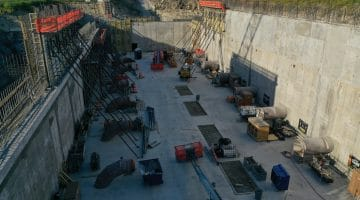 High Service Pump Station well underway in October 2020