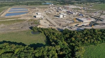 Overview photo of Leonard Water Treatment Water Treatment Plant construction October 2020
