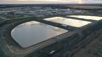 Sludge Lagoons at the Leonard Plant December 2020