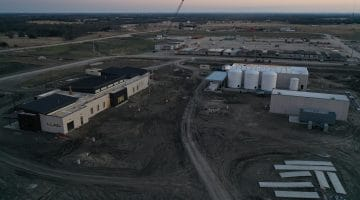 Operations Center and east chemical storage building as of January 2021