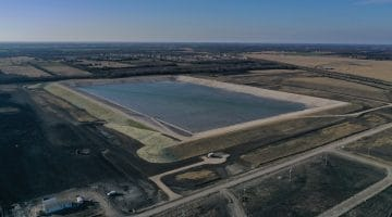 Terminal Storage Reservoir – almost completed January 2021