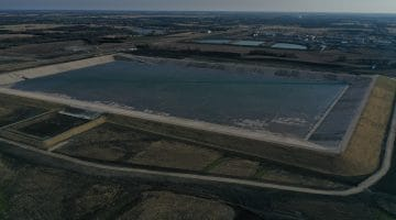 Nearly completed Terminal Storage Reservoir