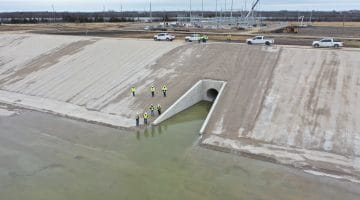 Inspection of the Terminal Storage Reservoir by the Texas Water Development Board