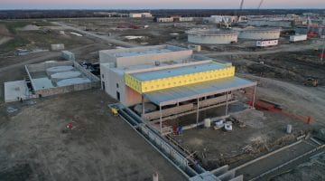 North chemical storage building at the Leonard Treat Plant Site as of January 2021