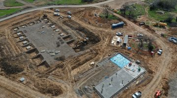 Dam Maintenance Facility from above as of March 2021