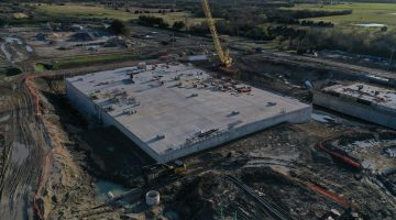 Leonard Plant chlorine contact basin clearwell March 2021