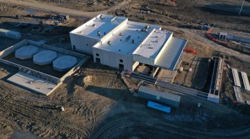 Water Plant's north chemical storage building March 2021