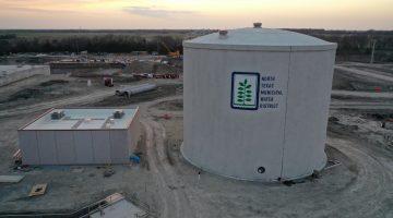 Leonard Plant storage tank March 2021