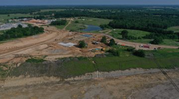Work on the dam and reservoir May 2021