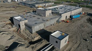 Pre-treatment building as of May 2021