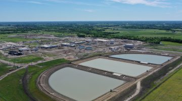 Water Treatment Plant sluge lagoons & site overview May 2021
