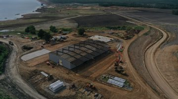 Dam maintenance facility as of July 2021