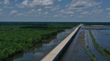 Completed FM 897 bridge July 2021