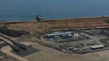 Reservoir overview of spillway & intake July 2021