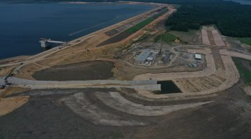 Reservoir construction overview as of July 2021