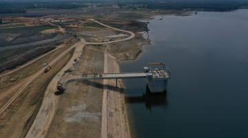 Intake structure & dam embankment July 2021