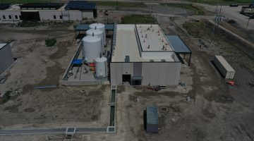 East chemical storage building at Leonard Plant July 2021