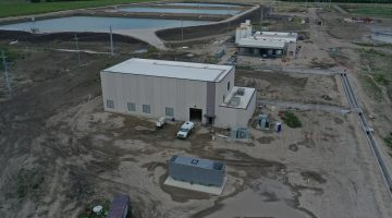 North chemical storage building as of July 2021