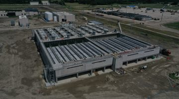 Pre-treatment building as of July 2021